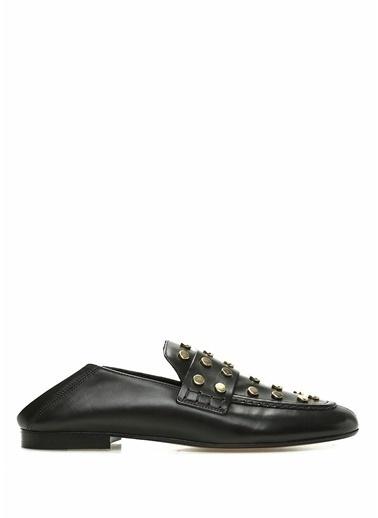 Etoile İsabel Marant Deri Loafer Ayakkabı Siyah